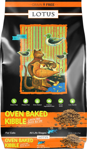 Lotus Grain Free Oven Baked Kibble Duck Recipe Dry Cat Food