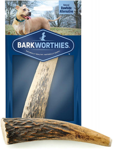 Barkworthies Whole Elk Antler Dog Chew for Small Breed Dogs