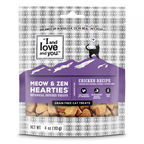 I and Love and You Meow & Zen Hearties Grain Free Cat Treats