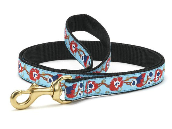 Up Country Big Poppy Dog Collars & Leads