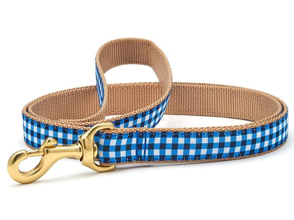 Up Country Navy Gingham Collars & Leads