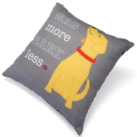 Up Country Pillow Wag More Bark Less
