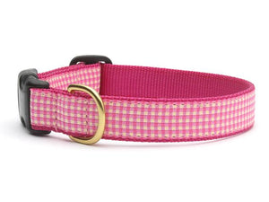 Up Country Pink Gingham Collars & Leads