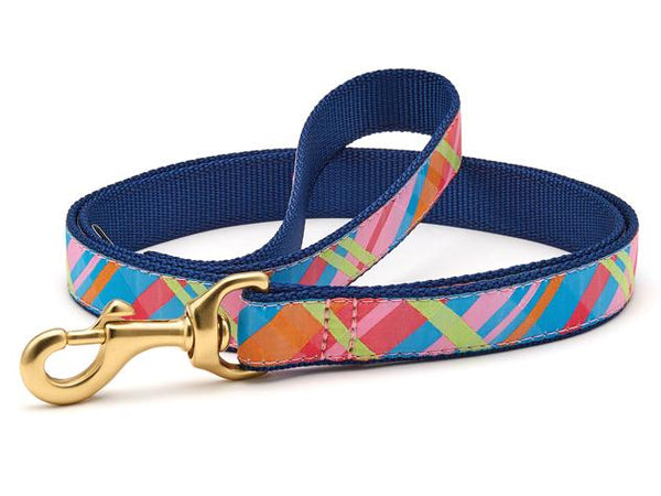 Up Country Pink Madras Collars & Leads