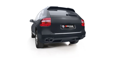 Remus Rear Silencer Left/Right with Uses OE Tailpipes for Porsche Cayenne 957 4.8 V8 Turbo 368 kW 2007-2010