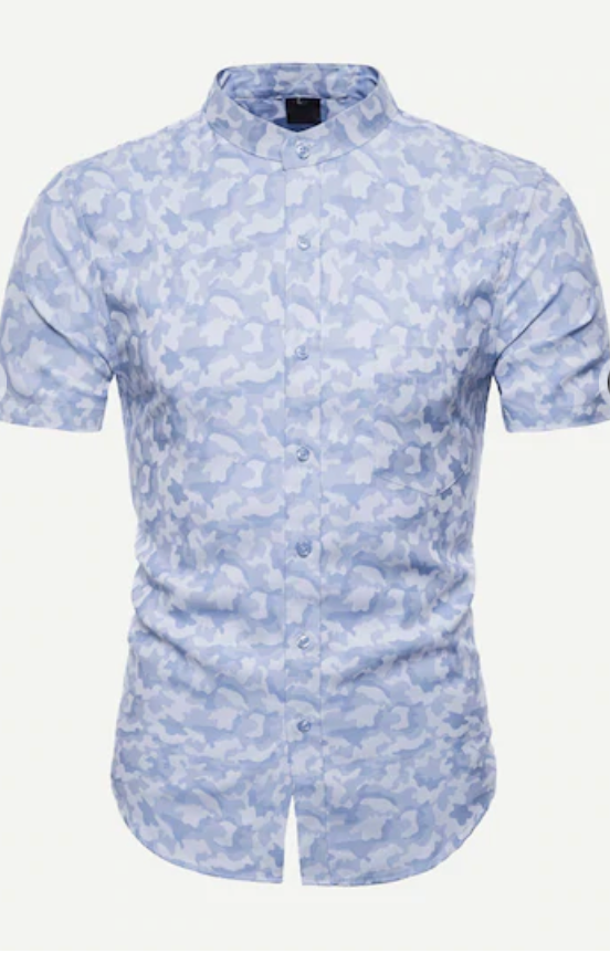 Blue Camu Men's Shirt