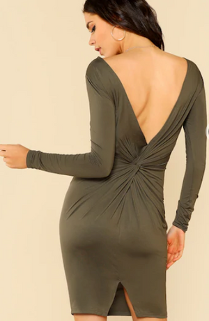 Veronica Olive Green Dress
