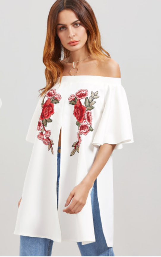 Floral Off-Shoulder Blouse