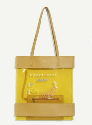Yellow Transparent Beach Bag