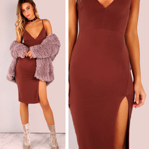 Mariah Plunge Neck Dress