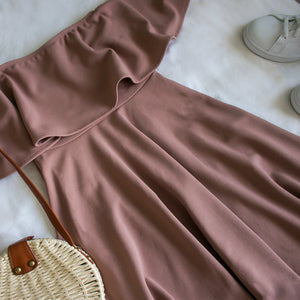 Rose Off Shoulder Day Dress