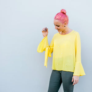 Pearl Yellow Blouse