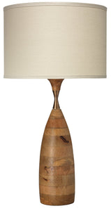 Amphora Table Lamp in Natural Wood