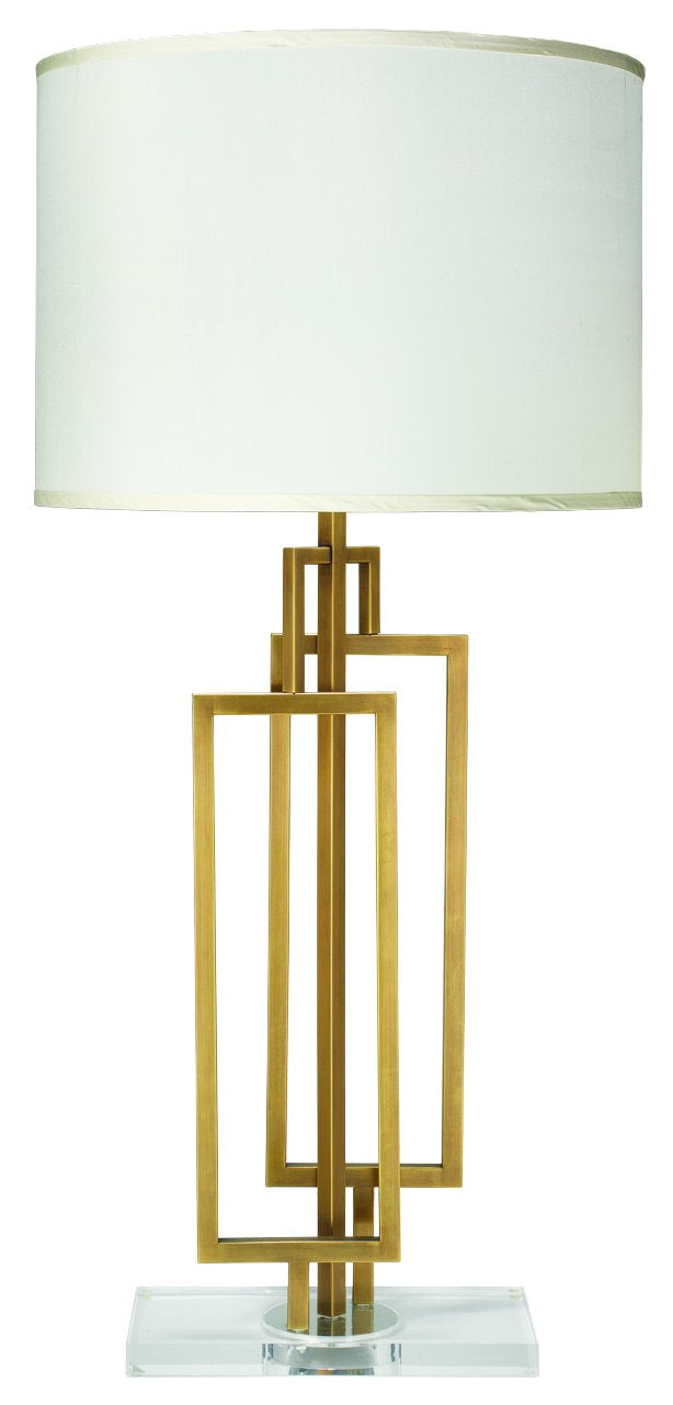 Romeo Table Lamp in Antique Brass