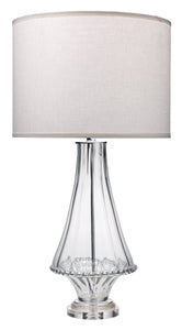 Simone Table Lamp in Clear Glass