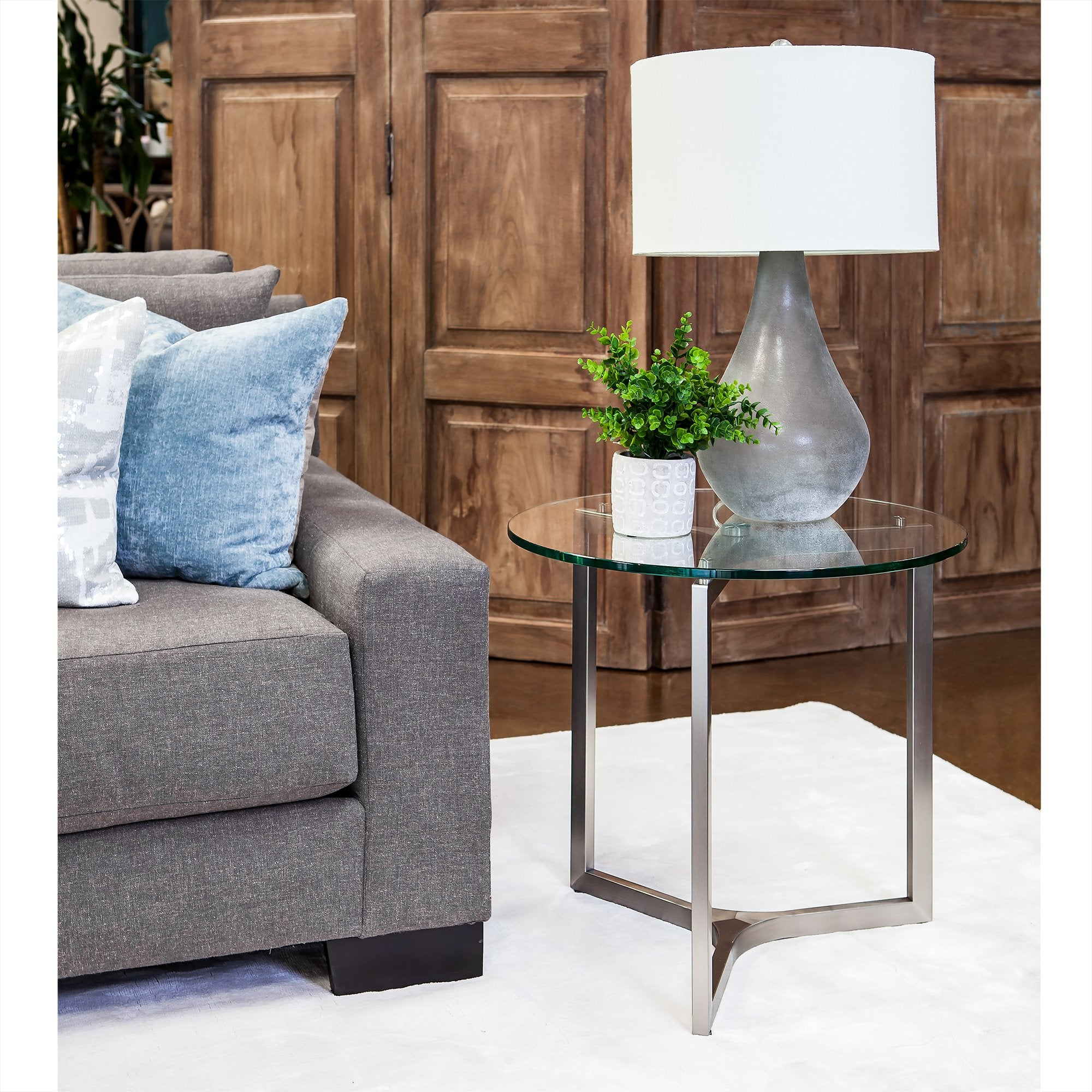 Adrienne Round End Table