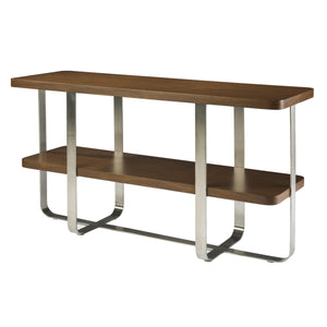 Artesia Console With Mocha on Oak
