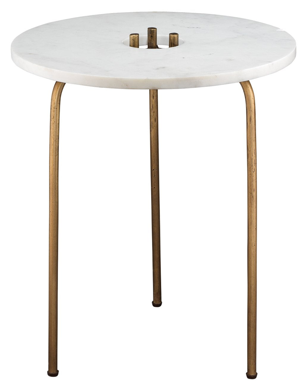 Durham Side Table in White Marble