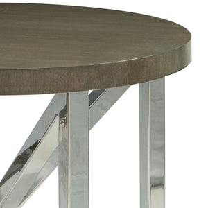 Calista End table with Grey Cherry wood