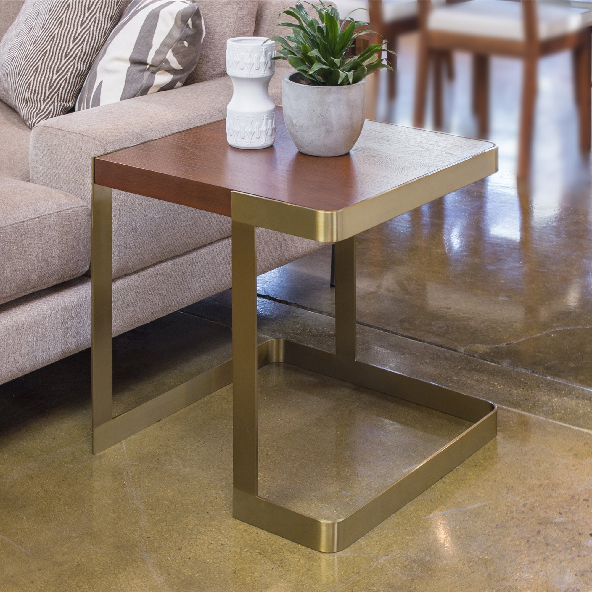 Caroline End Table with Walnut Top