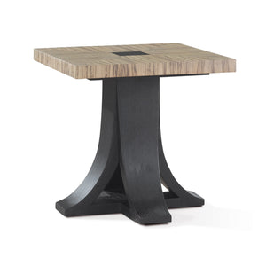 Bonita Square End Table with Zebrawood Top