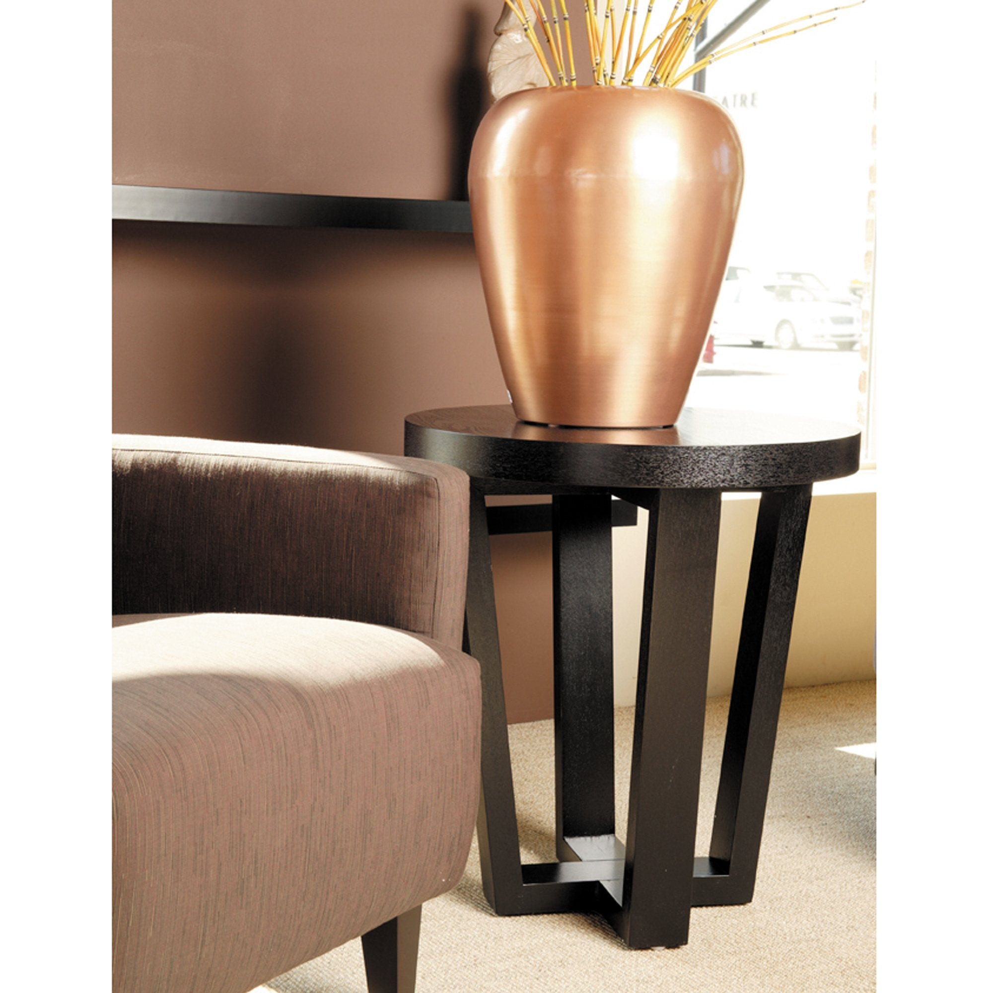 Andy Round End Table in Black
