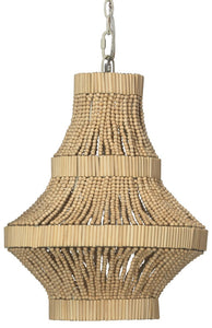 Camellia Chandelier in Natural Beads