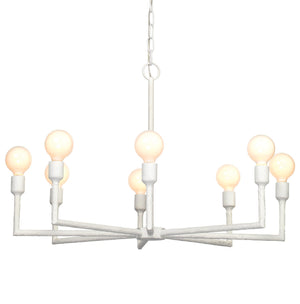 Park Chandelier in White Gesso