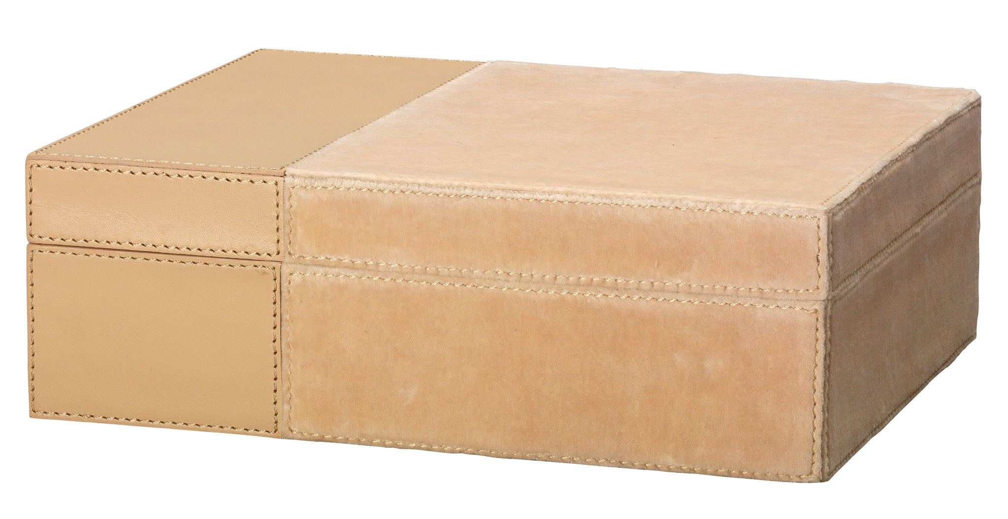 Aria Velvet & Leather Box in Nude