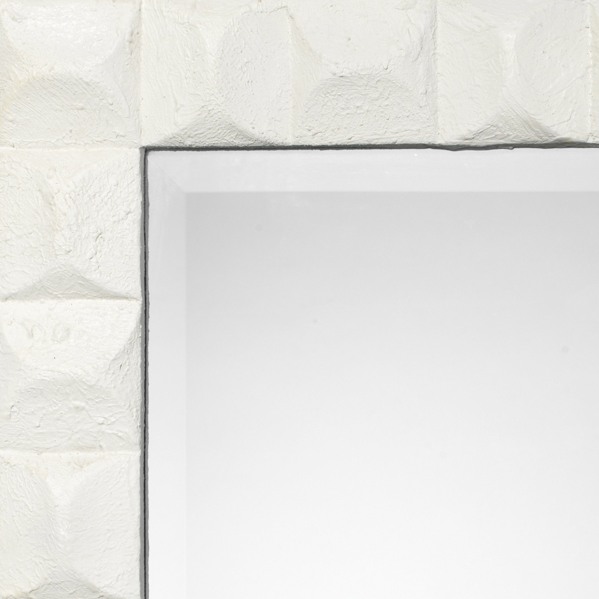 Astor Mirror in White Gesso