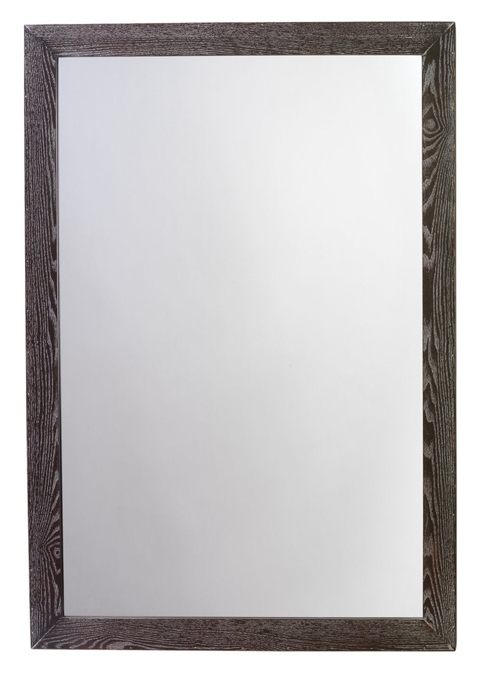 Austere Simple Rectangle Mirror in Dark Wood