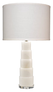 Caspian Table Lamp in White Alabaster