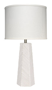 High Rise Table Lamp in Cream Ceramic