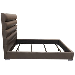 Bardot Cal King Bed in Elephant Grey
