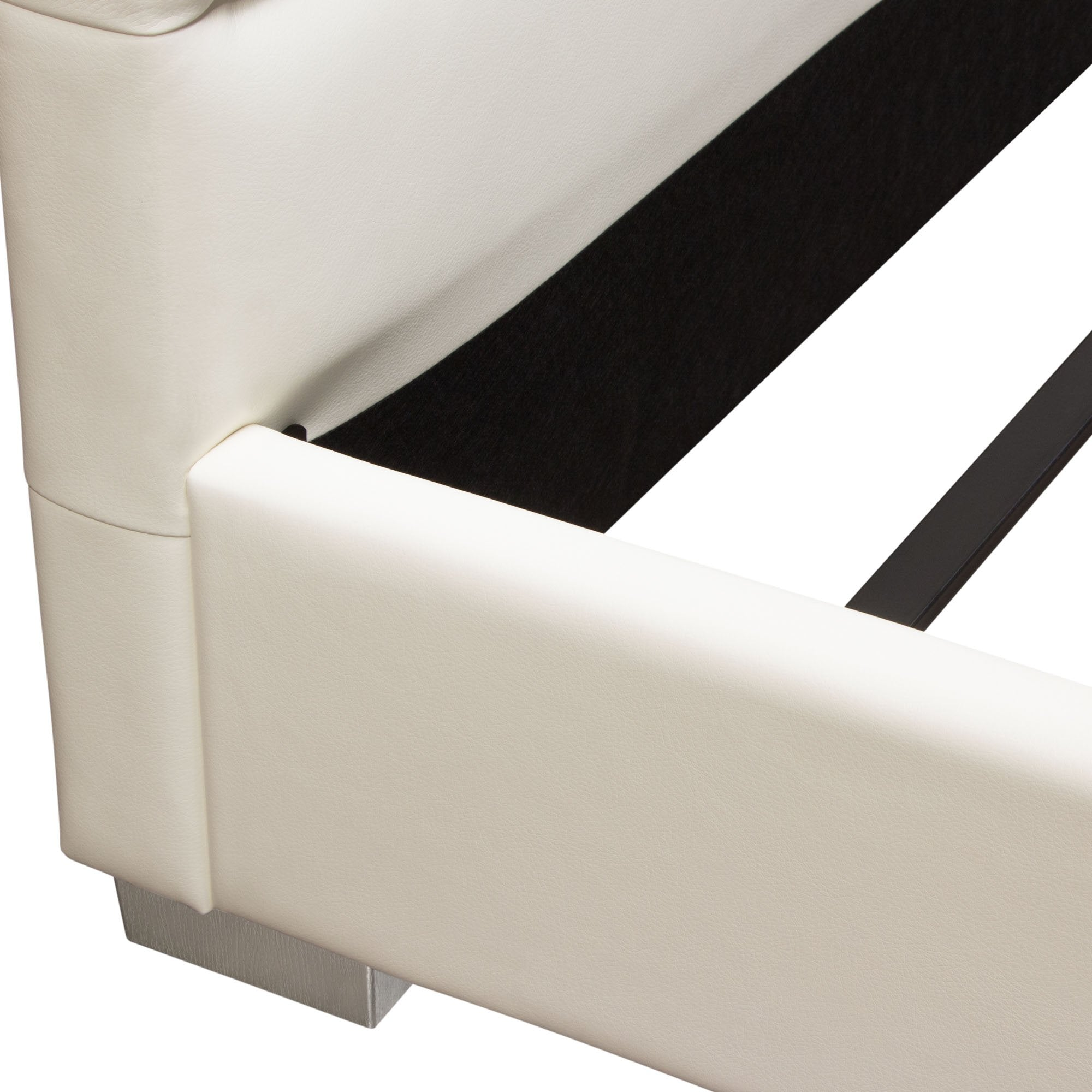 Bardot Eastern King Bed in White