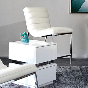Bardot Counter Height Chair-White