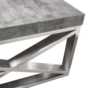 Carrera Cocktail Table in Faux Concrete Finish