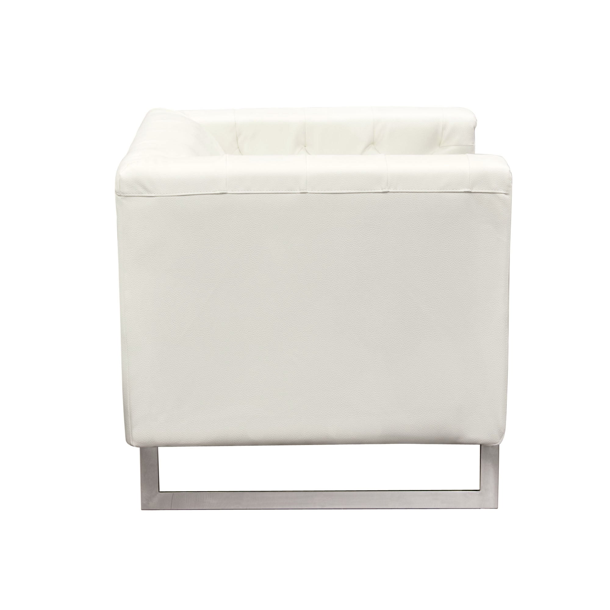 Chelsea Leatherette Chair-White