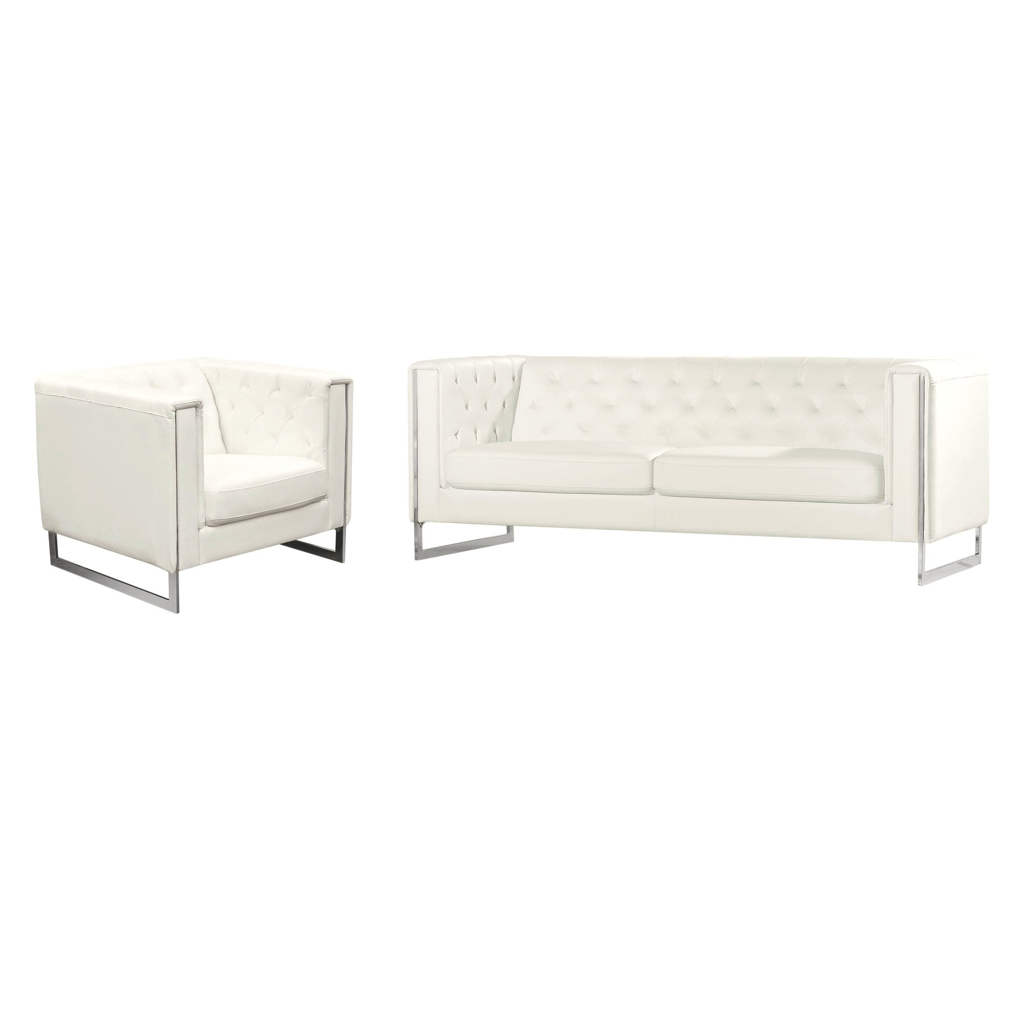 Chelsea Leatherette Sofa/Chair 2PC Set
