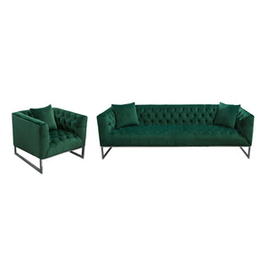 Crawford Tufted Sofa & Chair 2PC Set