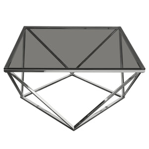 Gem Cocktail Table with Smoked Tempered Glass