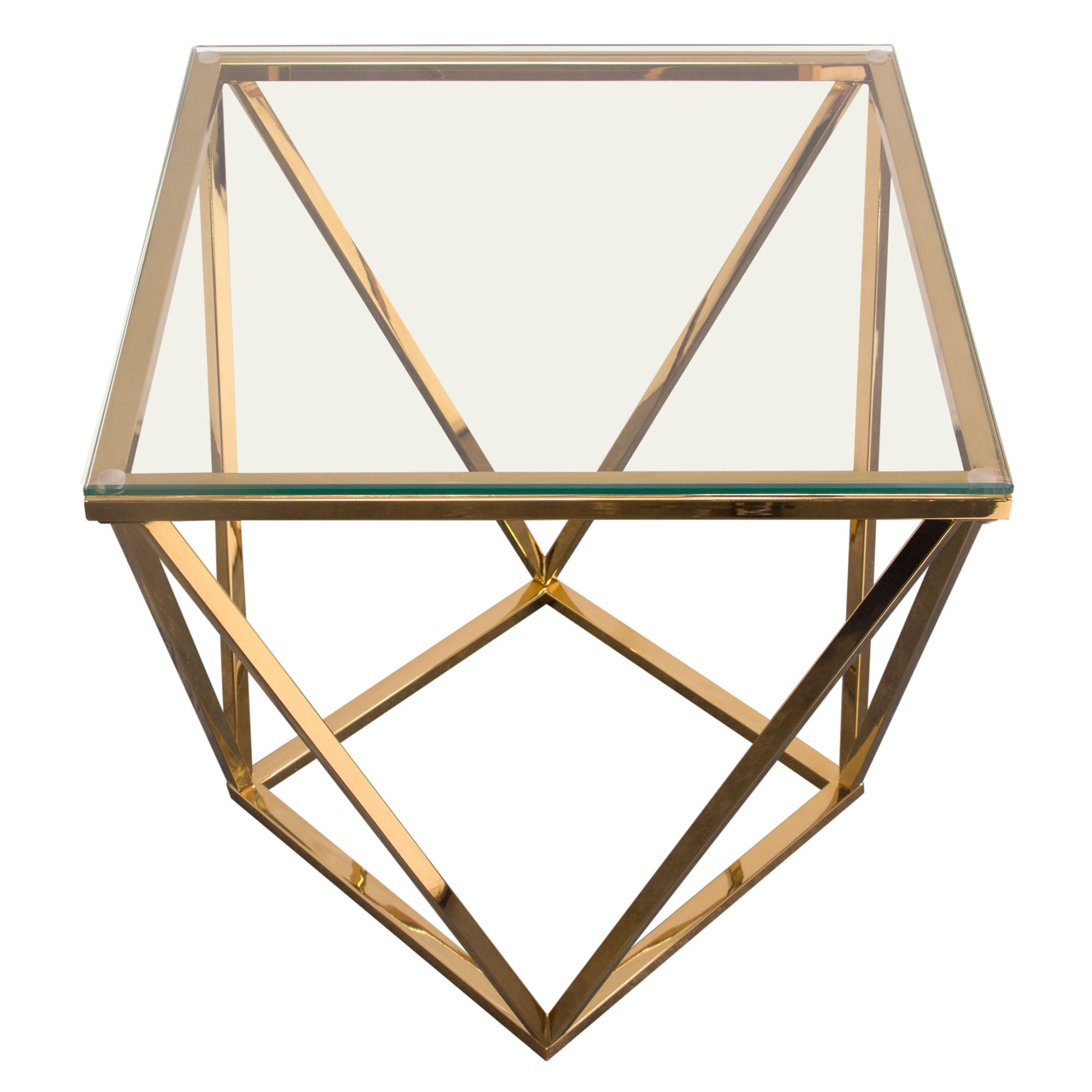 Gem End Table with Tempered Glass Top