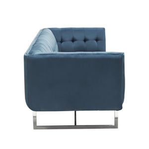 Hollywood Tufted Sofa in Royal Blue