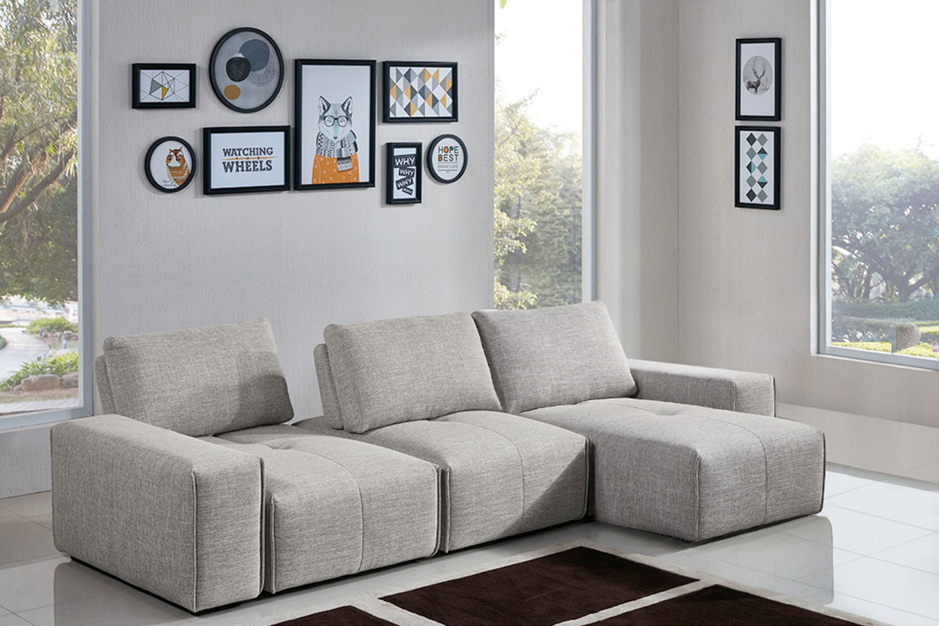 Jazz Modular 3-Seater Chaise Sectional