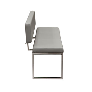 Knox Bench w/ Back - Grey