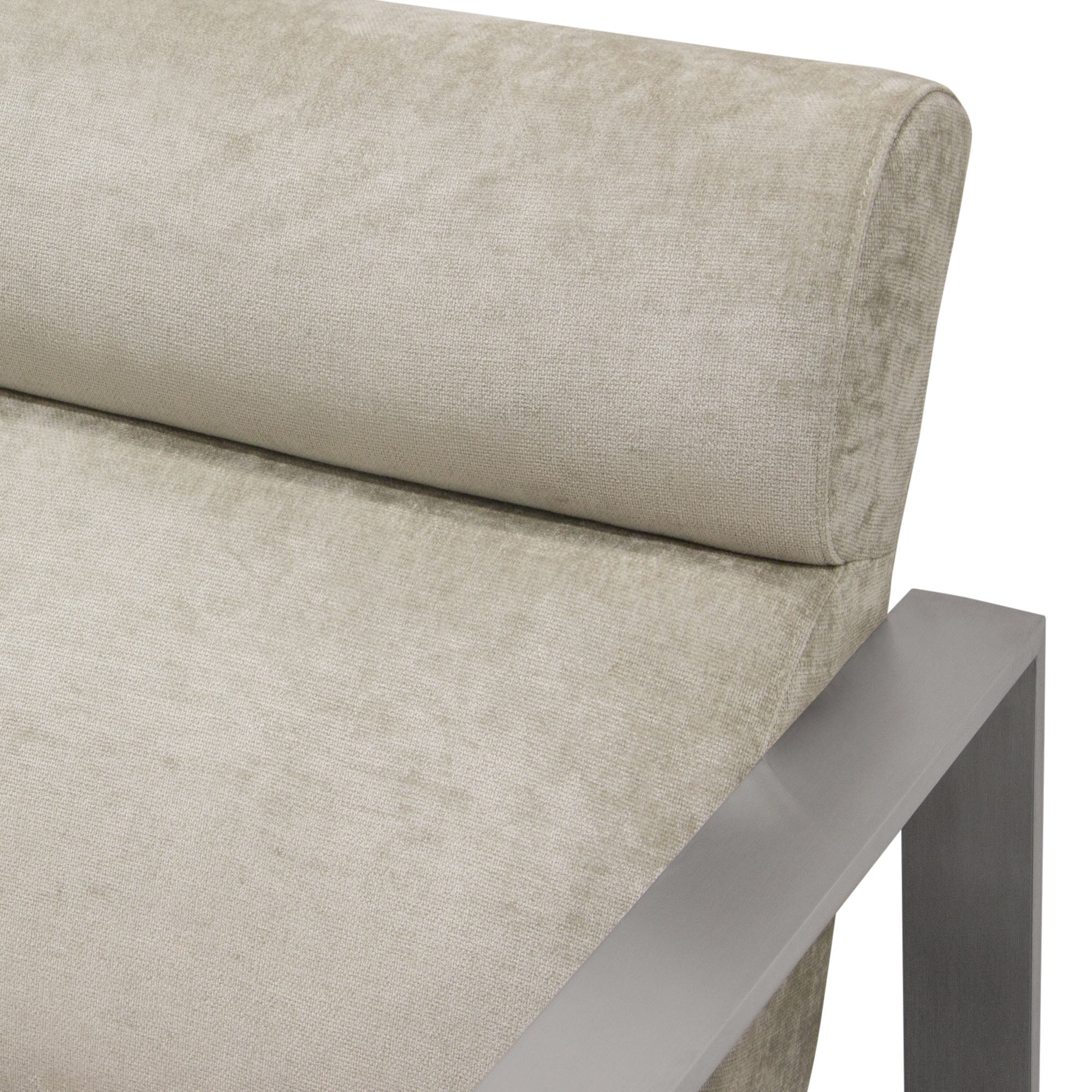 La Brea Accent Chair in Champagne Fabric
