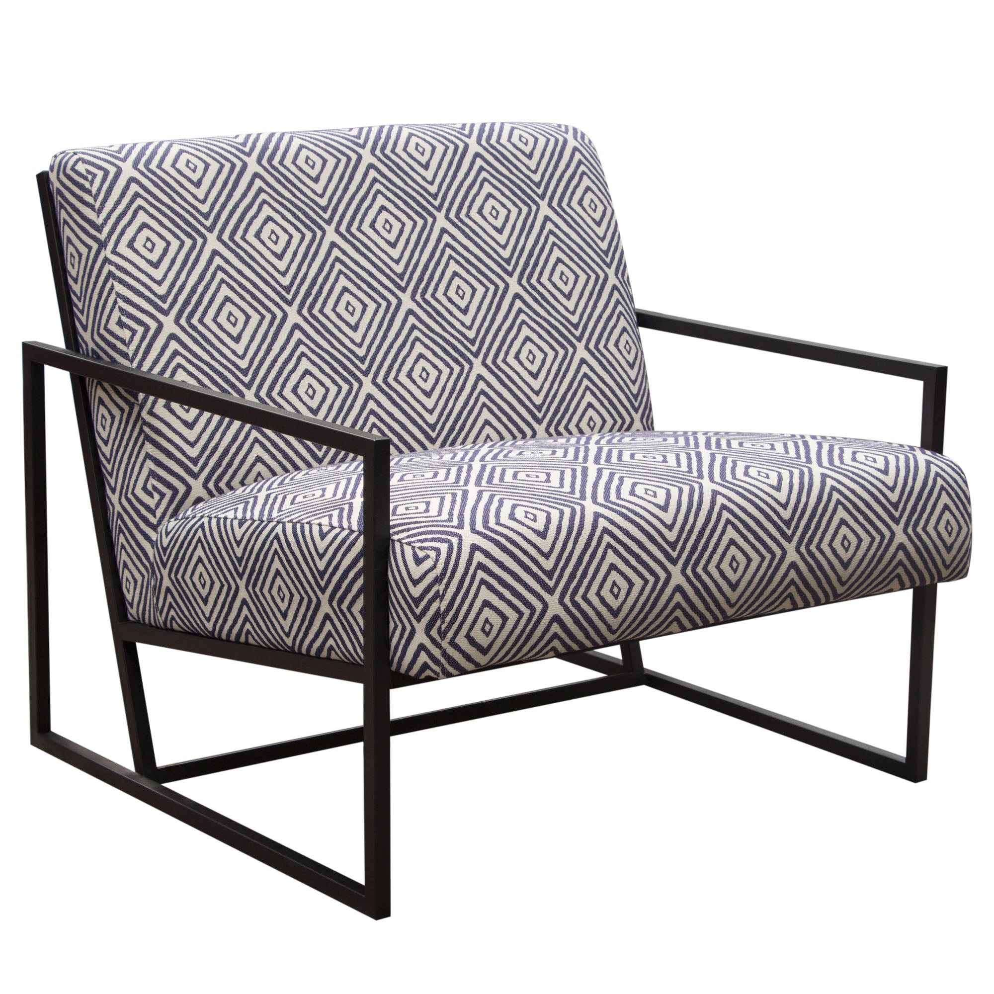 Luxe Accent Chair in Navy-White