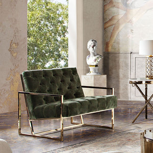 Luxe Accent Chair in Olive Green