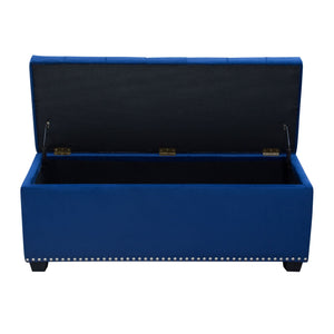 Majestic Lift-Top Storage Ottoman - Royal Blue