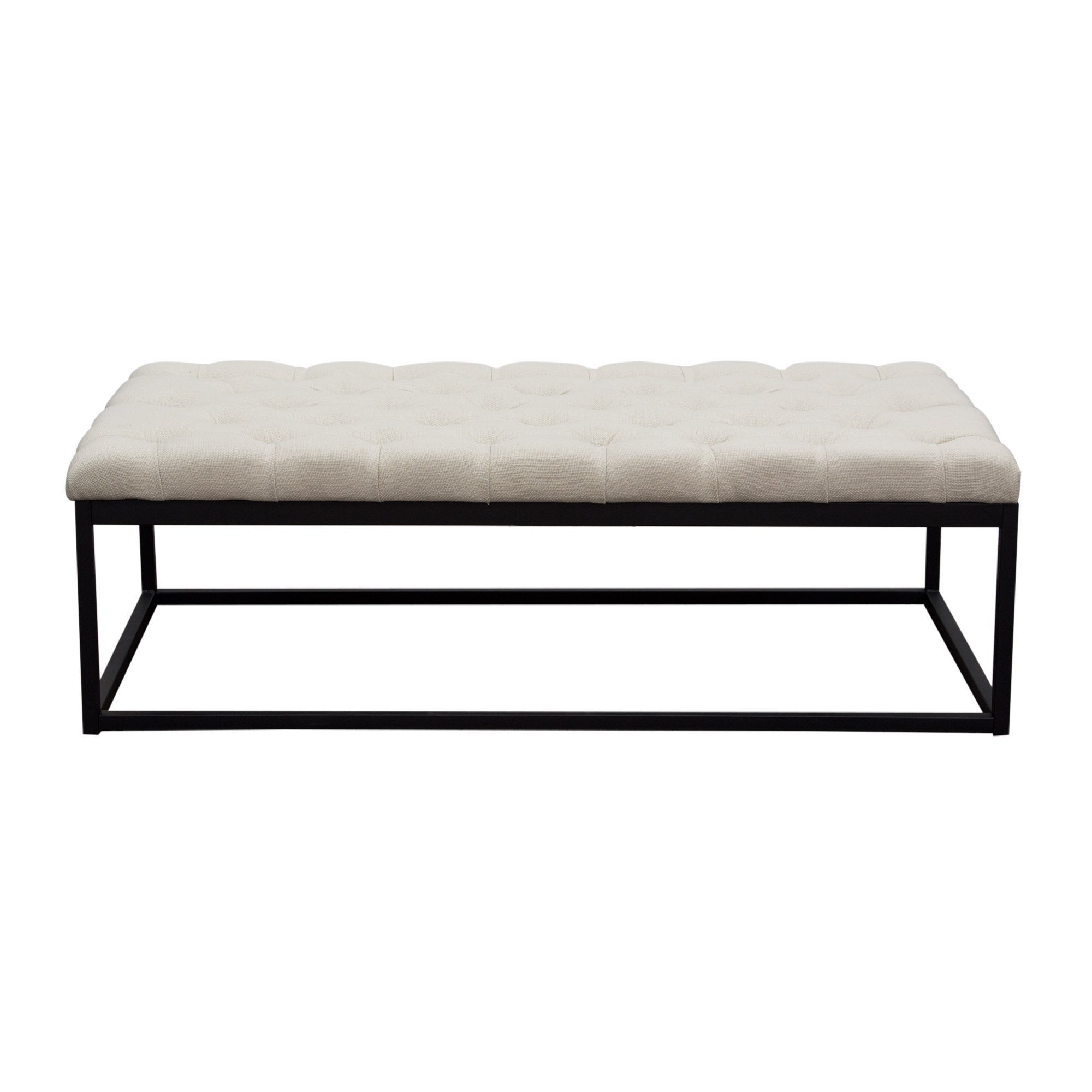 Mateo Large Linen Bench in Desert Sand